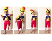 Pinocchio Costume, Dress-Up, Birthday Outfit