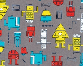 Cosmic Convoy-Robotic Gray-Cloud9 Fabrics