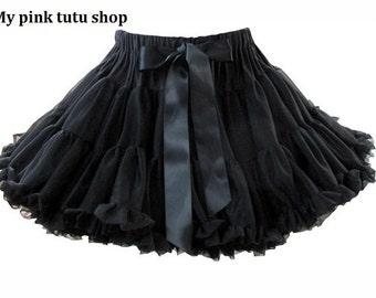 Adult  Pettiskirt, Ruffle petite skirt, birthday tutu skirt, Ballerina skirt,