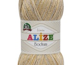 Alize BODRUM Linen and Polyester High Quality Turkish Yarn, Pack of Five skeins. Free Shipping