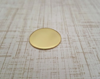 Nu Gold 3/4 inch Round Stamping Blanks - Nu Gold Blanks