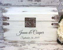 Wedding Card Box Engraved With Bride And Groom's Names And Wedding Date, Personalized Wedding Decor
