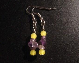 Bright summery amathyst earrings