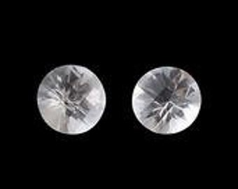Herkimer Diamond Quartz Round Cut Set of 2 loose Gemstones 1A Quality 5mm TGW 0.70 cts.