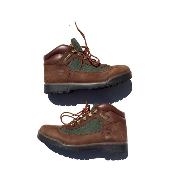 vintage brown leather hiking boots size 7 5 by slumgull on