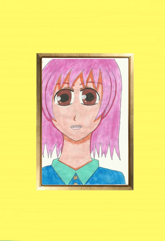 Poster porte chambre fille for Chambre kawaii