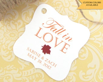 Fall in love tag (30) - Fall wedding favors - Wedding favor tags - Wedding tags - Fall tags - Wedding gift tags