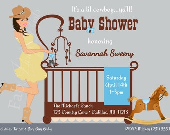Western baby shower invitations gangcraft western baby shower invitations etsy baby shower invitations filmwisefo Image collections
