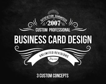 Custom Business Card Design, Business Card, Custom Design, Business Card Single Side or Both Side
