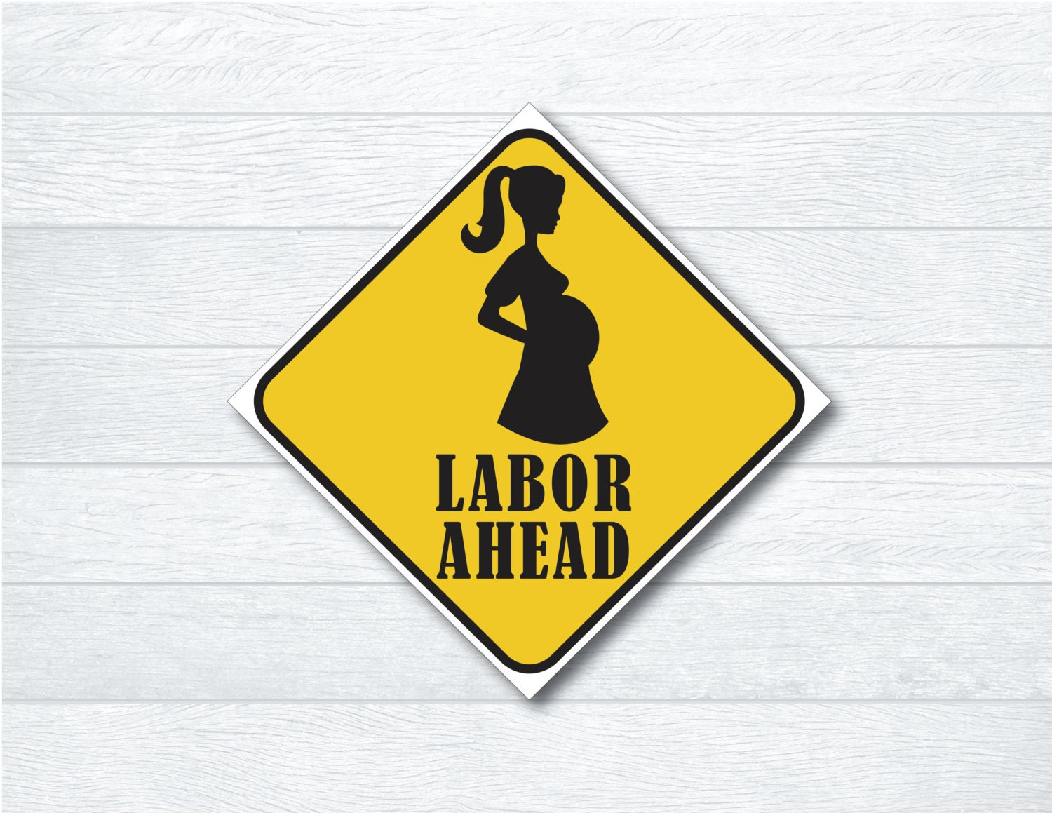 Labor Ahead Sign Construction Themed Baby Shower Sign