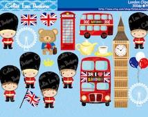 London clipart , London England British Clip art , Great Britian United Kingdom clipart (CG128) / INSTANT DOWNLOAD