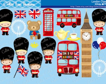 London clipart , London England British Clip art , Great Britian United Kingdom clipart (CG128) / INSTANT DOWNLOAD