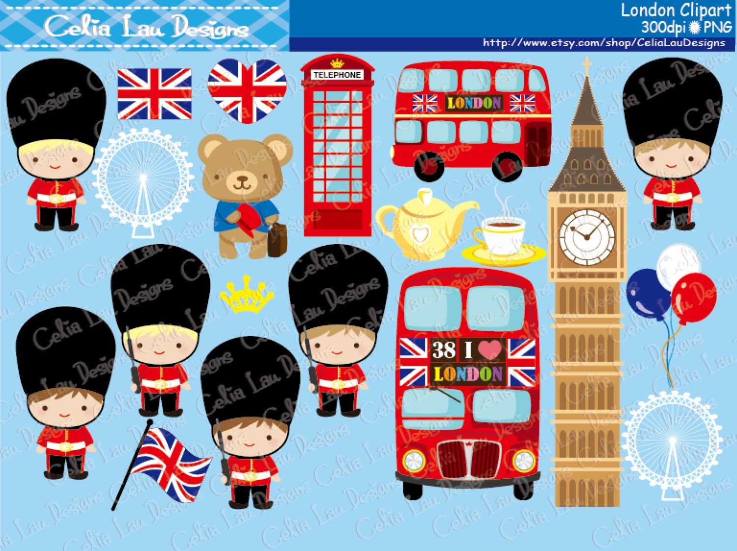 Scrapbook paper england theme - London Clipart London England British Clip Art Great Britian United Kingdom Clipart Cg128 Instant Download
