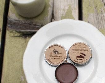 Organic Whoopie pie // maine made gift // Organic Gluten Free Chocolate Whoopie Pie Lip Balm / sweet organic whoopee pie lip balm / whoopee