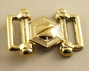 Steam Punk Buckle. Gold. 40mm x 28mm jr08898