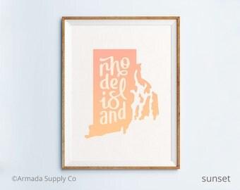 Rhode Island print - Rhode Island art - Rhode Island poster - Rhode Island wall art
