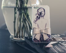 Iphone 5 painted girl and bow charm case