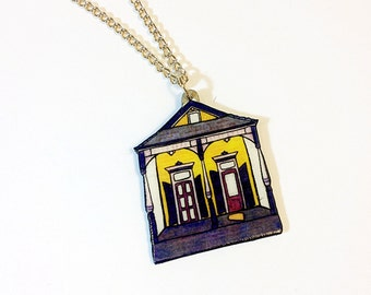 New Orleans Eastlake Shotgun in Purple and Gold – Laurel St. Necklace