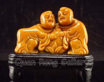 N4511 Chinese Shoushan Stone Statue - Fortune Kids