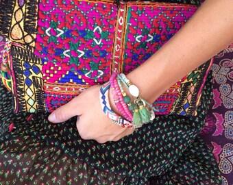 hand made patchwork clutch bag medium