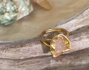 Natural Stone Adjustable Rings