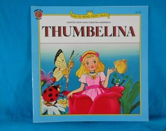 vintage 1994 Fun to Read Fairy Tales Thumbelina book adapted from Hans Christian Andersen's story Thumbelina