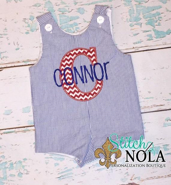 Monogrammed Shortall with Applique