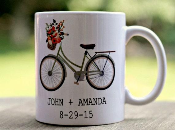 Personalized Wedding Mug, Bride and Groom Mug, Wedding Day Coffee Mug ...