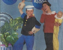 1988 Adults' and Boys' and Girls' Popeye and Olive Oyl Costumes; Simplicity 8831; Sizes 6-8; S,M,L