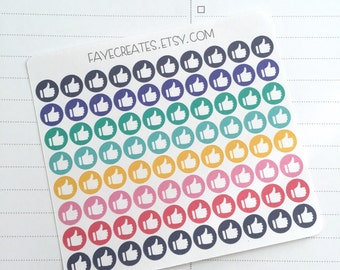 Thumbs up stickers for Day Designer and other planners