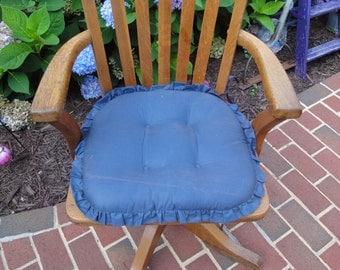 Antique Antique Oak Desk Chair/Antique Oak Office Swivel Chair/Antique Oak  Chair/