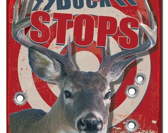 Deer Camp Hardboard Wall Sign