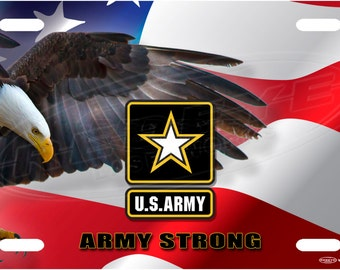 Army Strong License Plate Tag
