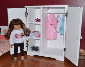 """Armoire, wardrobe, closet for American Girl Doll or any 18"""" Doll"""