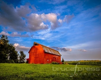 Barn At The End Of The Day - Photographic Print