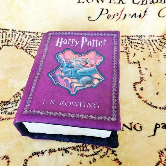 Harry Potter Book Cover Fabric ~ Harry potter book pillow prisoner of azkaban