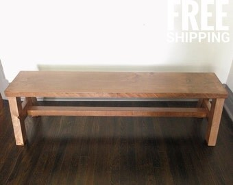 Reclaimed Wood Bench, Entry Bench, Dining Bench  | Rustic Decor | Free Shipping