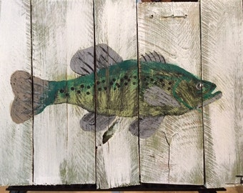 Smallmouth Bass on Pallet Board