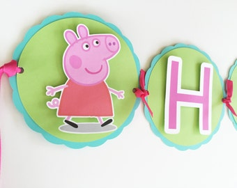 Peppa Pig Banner/Peppa Pig Birthday/Peppa Pig Party/Peppa Pig/Peppa Birthday/ Peppa First Birthday/Peppa Baby Shower/Peppa Pig Theme