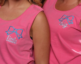 Sorority Big Little Tank Tops - Big Sister Lil Sister Tanks - Sorority Comfort Color Tanks
