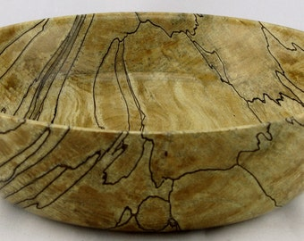 Fruit bowl or service made from Spalted Maple apprx. 10 in. x 2 3/4 in. item number: ES0415-231