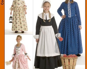 Simplicity Pattern 3725 Girl's Historic Costumes