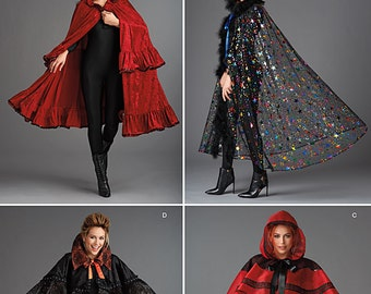 Simplicity Pattern 1294 Misses' Capes in Four Styles