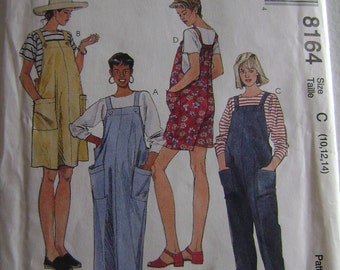 VINTAGE McCall's Pattern M8164 Maternity Jumper in Two Lengths, Jumpsuit and Romper