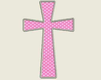 """Cross Appliqué Embroidery Machine Design file in 4 sizes (3"""", 4"""", 5"""", 6"""") in multiple file formats - INSTANT DOWNLOAD - Item # 3004"""