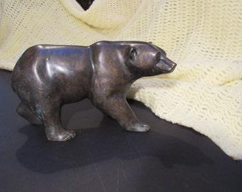 bronze bear large vintage