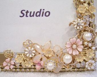 Jeweled Photo Frame. Birthday, Anniversary, Wedding, Shower, Graduation Gift.