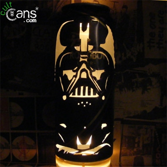 darth vader bierdose laterne star wars pop art kerze lampe. Black Bedroom Furniture Sets. Home Design Ideas