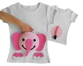 pink elephant shirt, elephant birthday, first birthday shirt, girls elephant, second birthday, first birthday, girls first birthday outfit