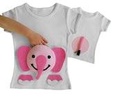 pink elephant shirt, elephant birthday, first birthday shirt, girls elephant, second birthday, first birthday, girls first birthday outfit